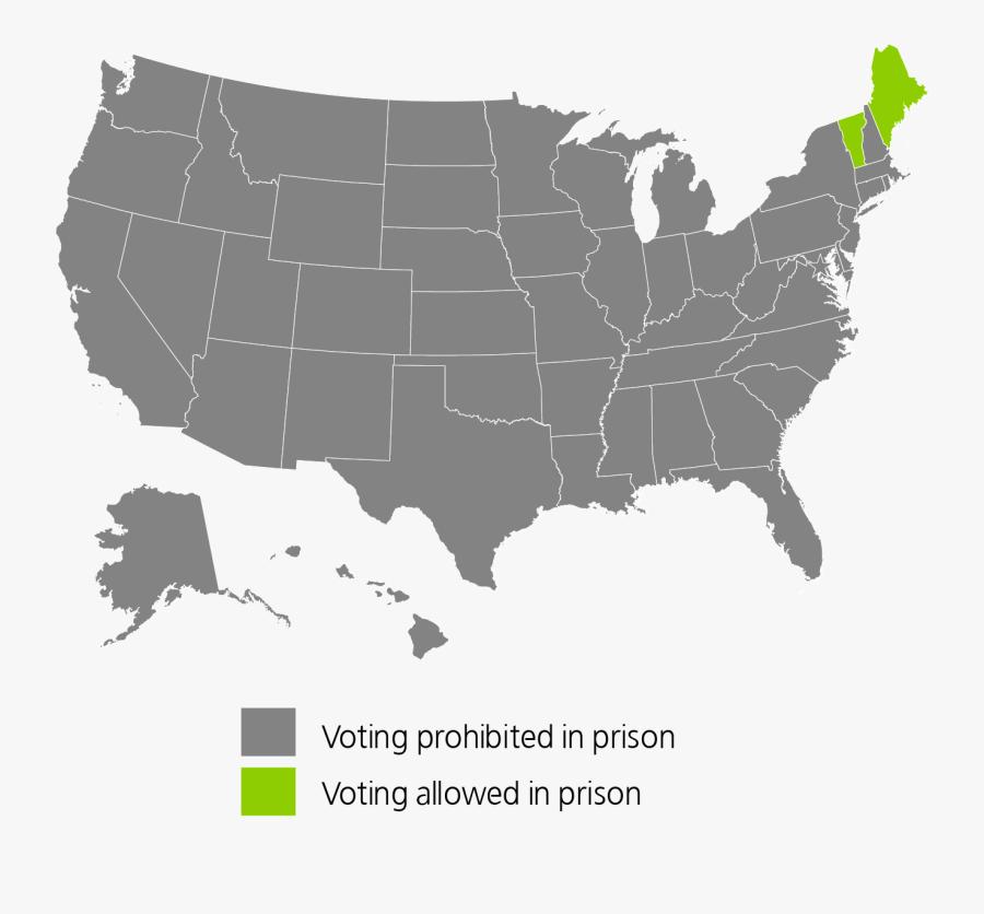 United States Map Transparent Background, Transparent Clipart