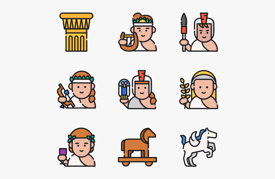 Greek Mythology - Human Color Icon Png, Transparent Clipart