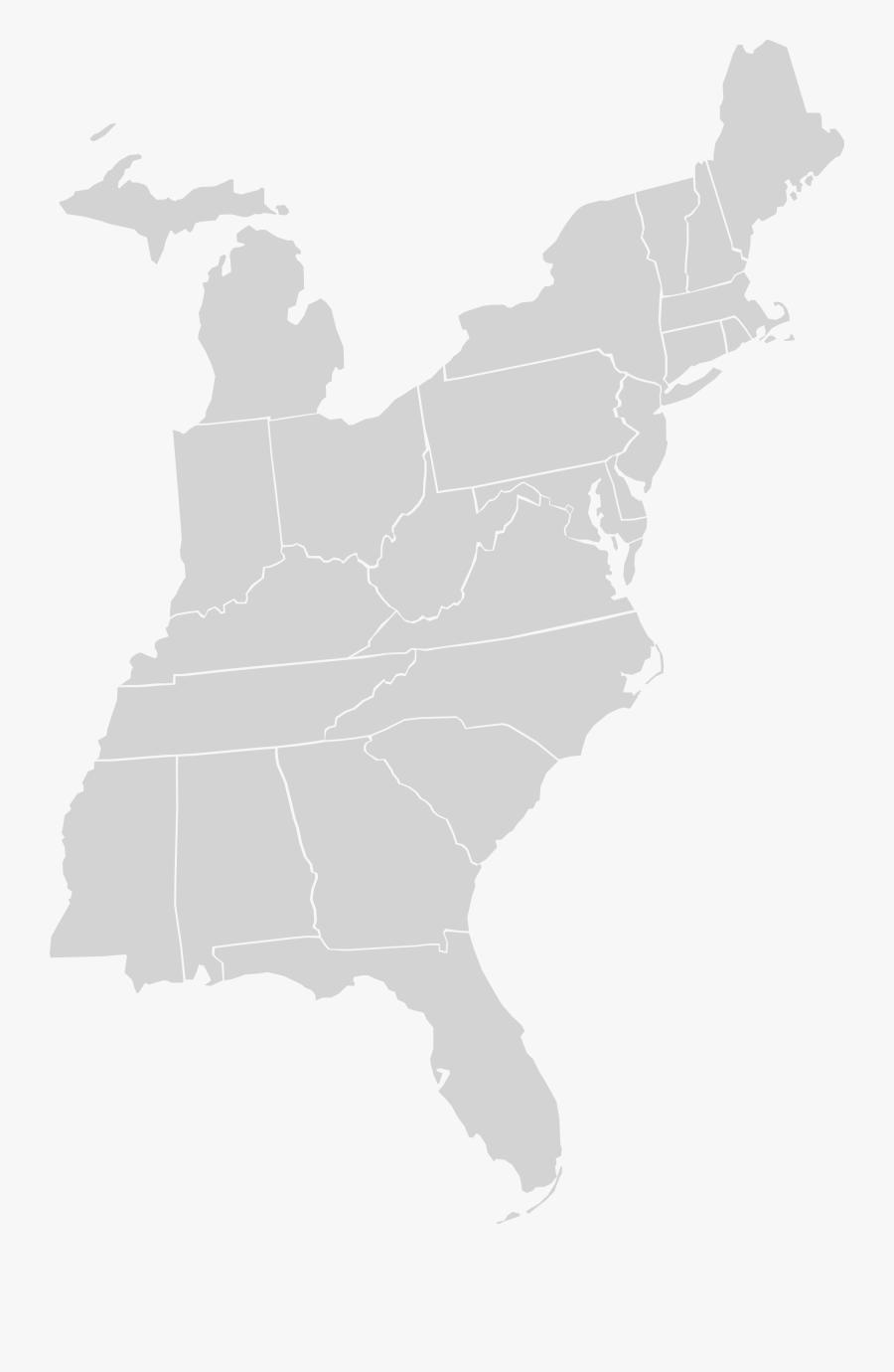 Eastern Us Clip Art - Texas A&m Us Map, Transparent Clipart