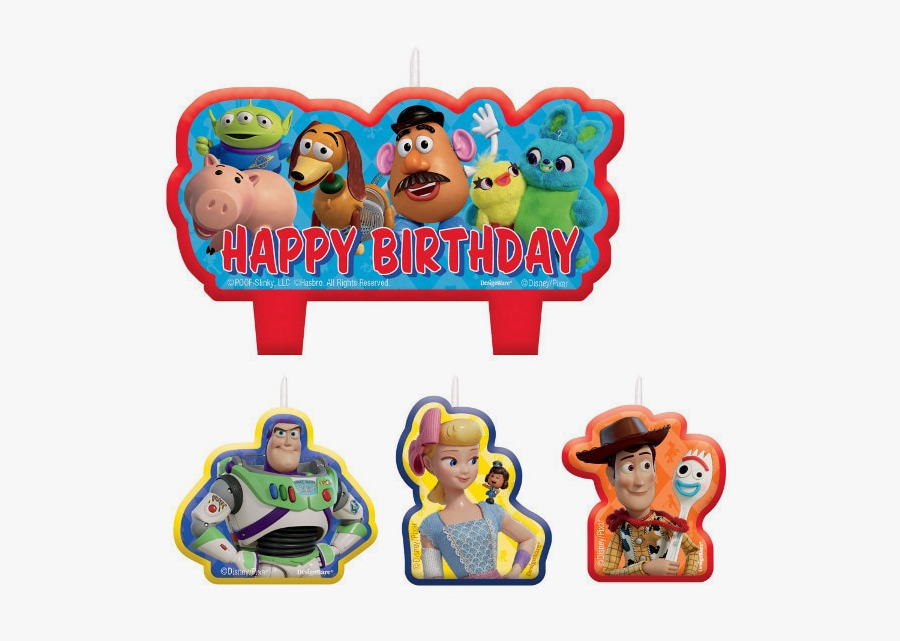 Toy Story Birthday Party Candle Set - Happy Birthday Toy Story 4, Transparent Clipart