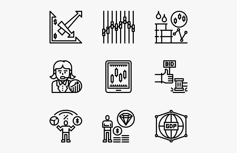 Stock Investment - Outdoor Icons, Transparent Clipart