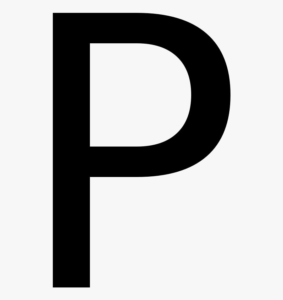 Block Letters P, Transparent Clipart