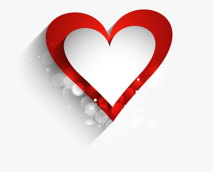 Heart Love Wallpaper - Transparent Background Heart Shape In Png, Transparent Clipart