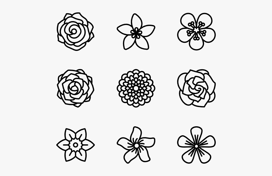 Flowers - Day Of The Dead Flower Black And White, Transparent Clipart