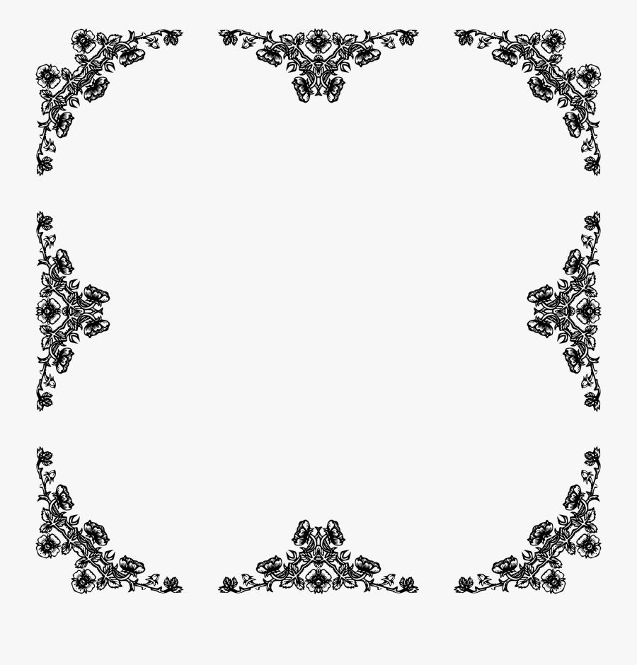 Rose Frame Beyond 6 Clip Arts - Rose Black Frame Png, Transparent Clipart