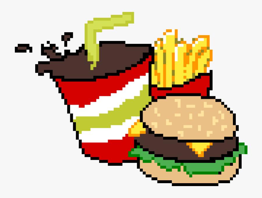 Hamburger Pixel Art Kawaii Nourriture