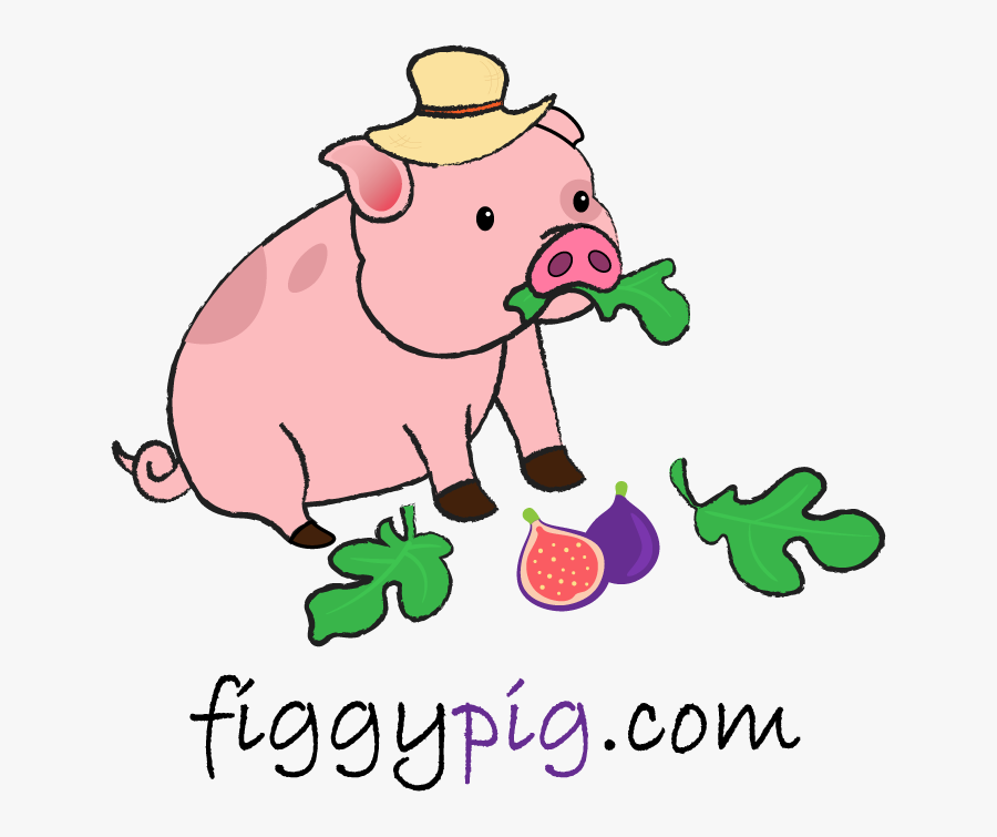 """Figgy Pig The Hungry Pig""""s Food Blog, Transparent Clipart"""