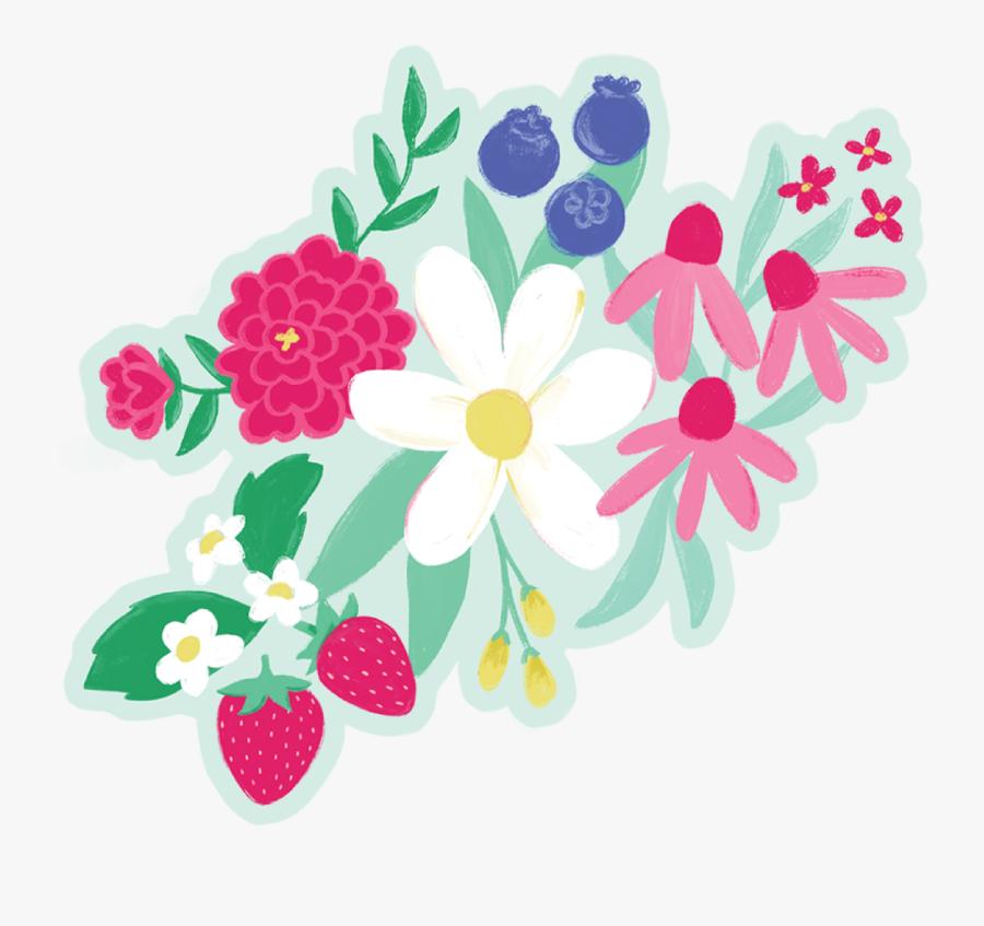 Best Summer Ever Flower Bunch Print & Cut File - African Daisy, Transparent Clipart