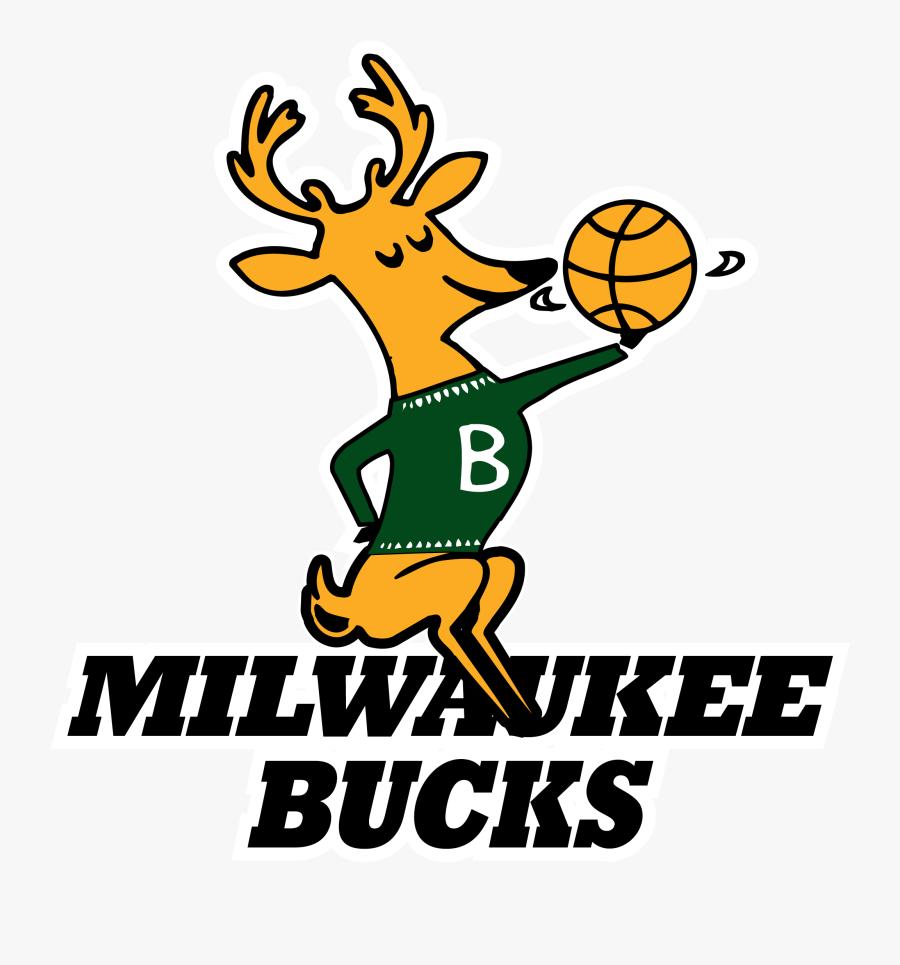 Past Milwaukee Bucks Logos, Transparent Clipart