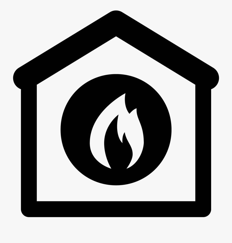 Fire Station Icon - Map Symbol For Fire Station, Transparent Clipart