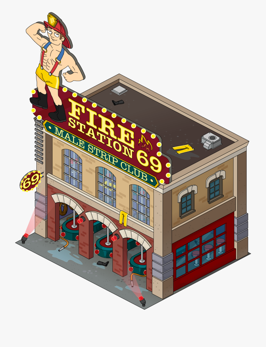 Fire Station 69 Male Strip Club - Fire Station Strip Club, Transparent Clipart