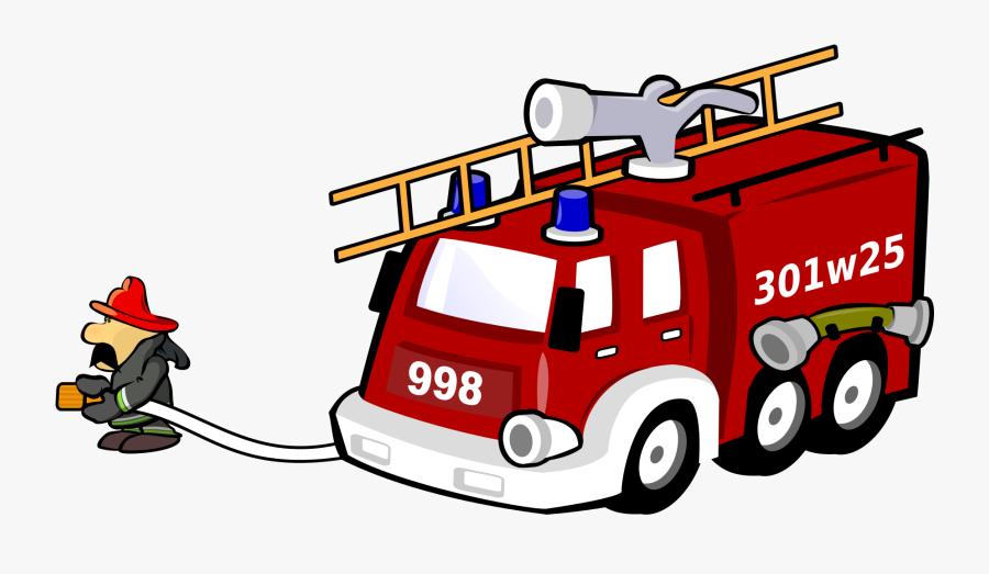 Fire Station Clip Art , Png Download - Transparent Fire Truck Siren Cartoon, Transparent Clipart