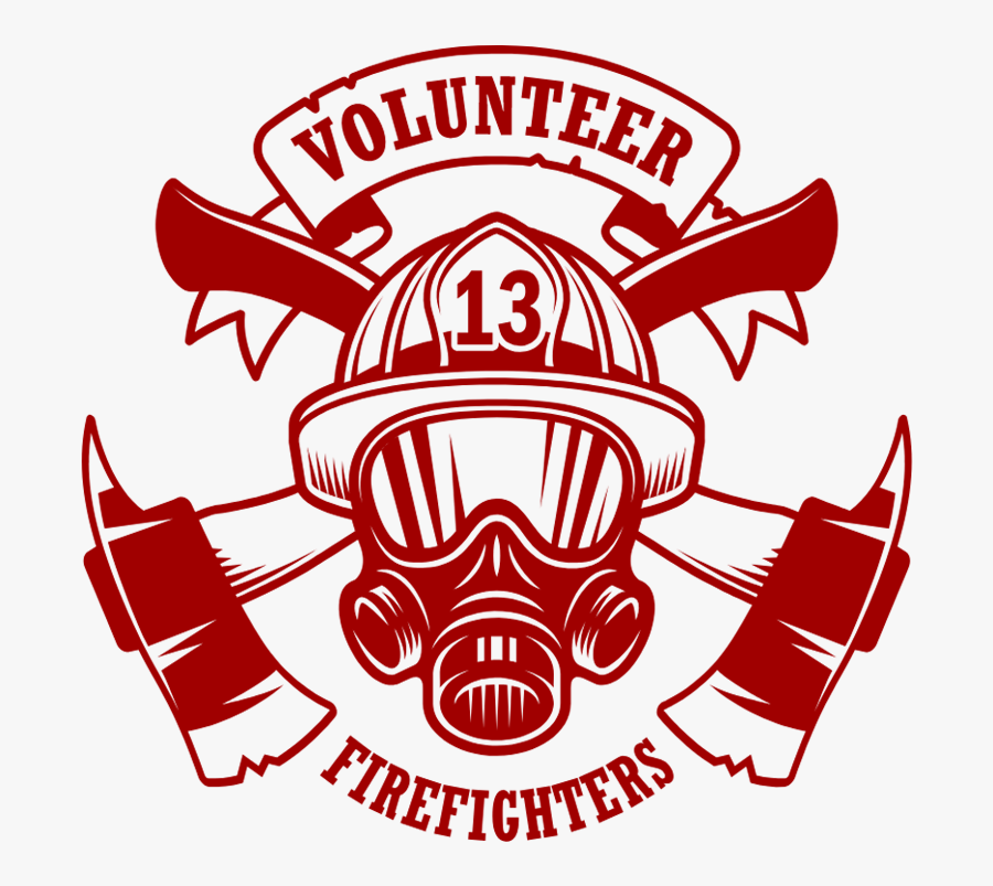 Firefighter Logo, Transparent Clipart