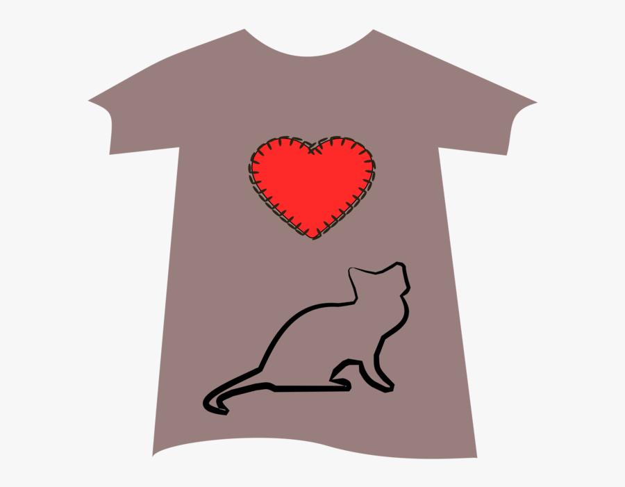 Heart,carnivoran,t Shirt - Balinese, Transparent Clipart