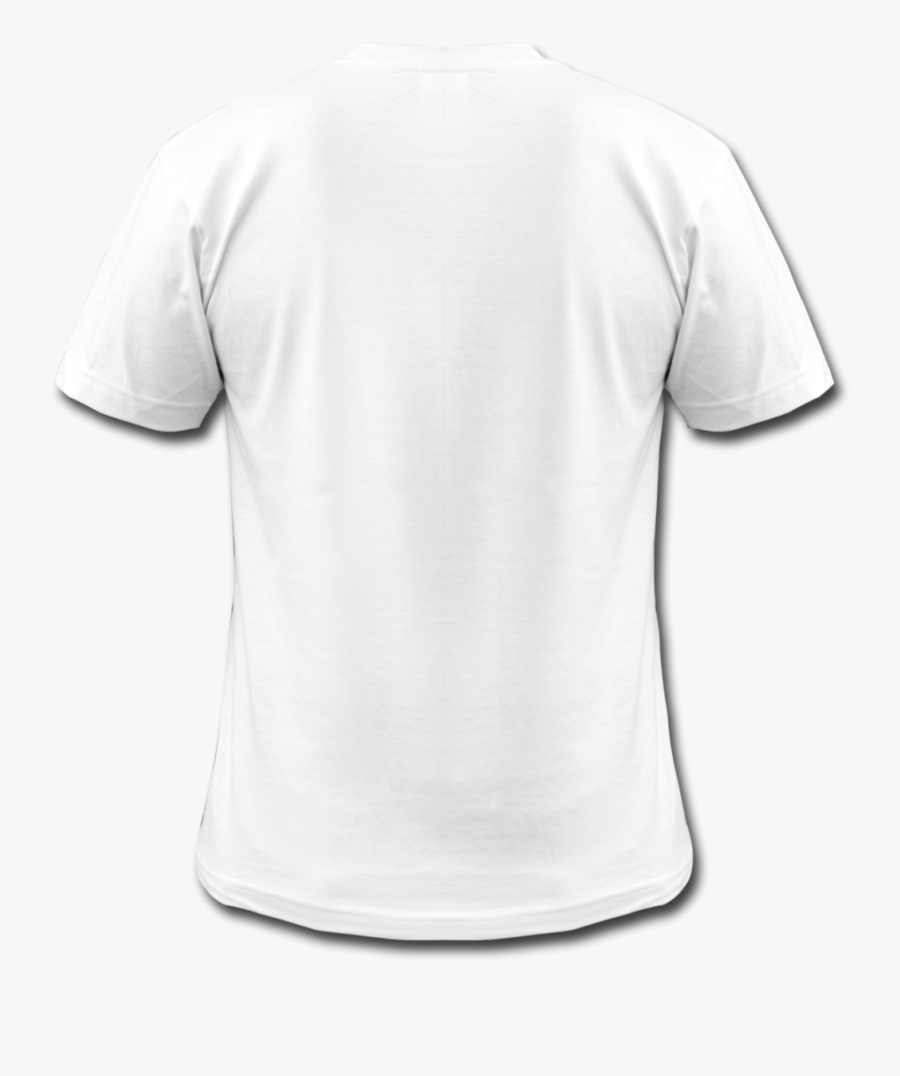 Clip Art Blank White Tee Shirt - Plain T Shirts Back Side, Transparent Clipart