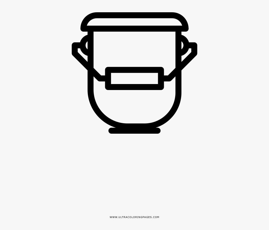 Paint Bucket Coloring Page - Line Art, Transparent Clipart