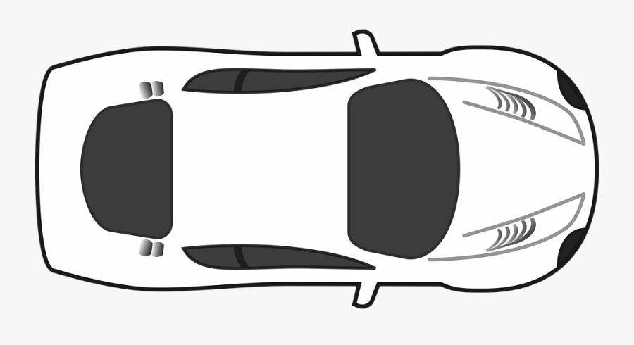 Blank, Car, Game, Game Sprite, Racing, Racing Car - Top Of Race Car, Transparent Clipart