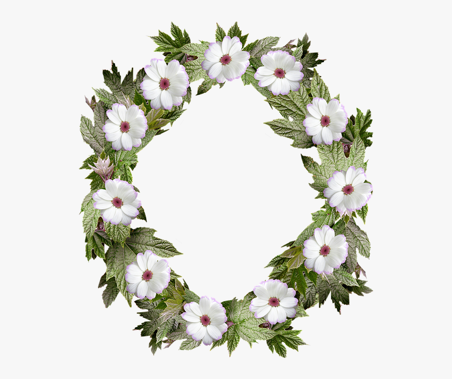 wreath frame border flower leaf bingkai daun hijau melingkar free transparent clipart clipartkey wreath frame border flower leaf