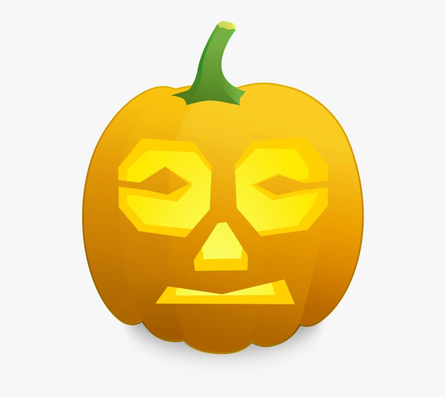 Scared Jack O Lantern Face, Transparent Clipart
