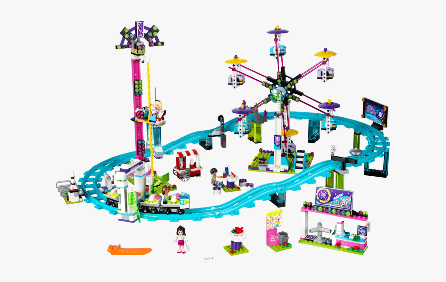 Lego 41130 Amusement Park Roller Coaster - Lego Friends Kolejka Górska, Transparent Clipart