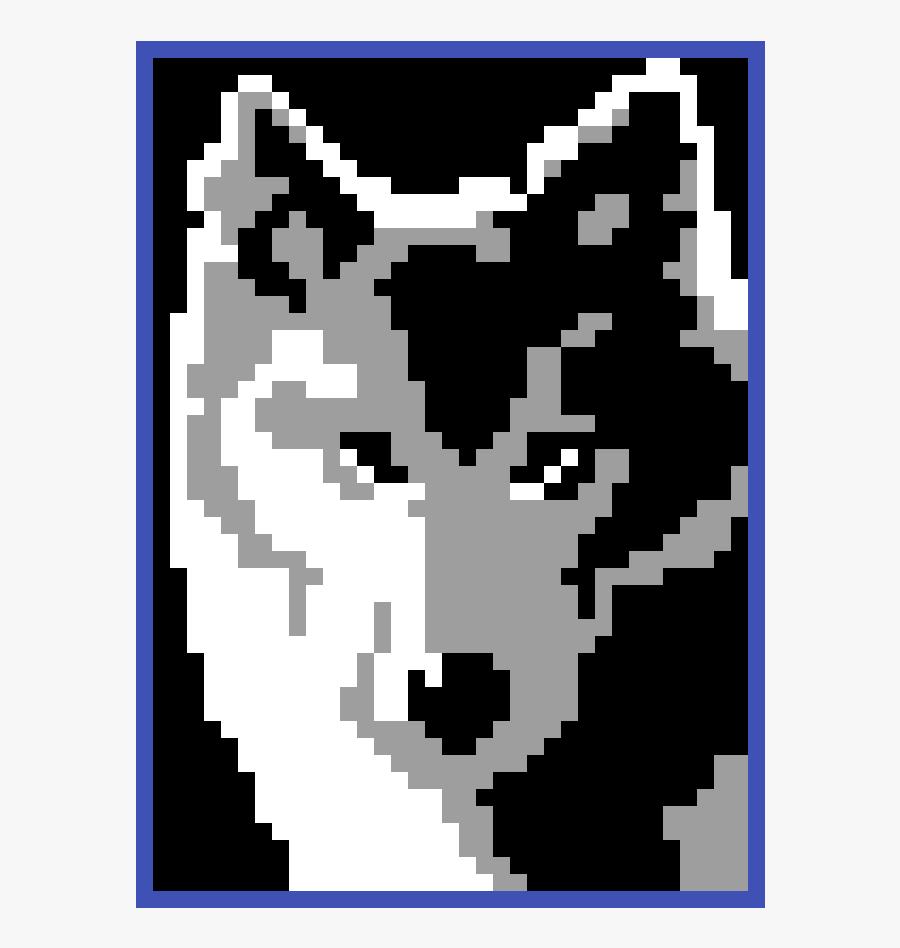 Perler Beads Wolf Pattern, Transparent Clipart