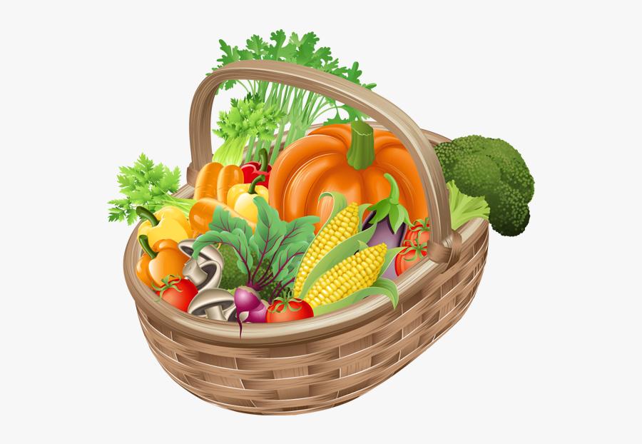 Fruits And Vegetables Basket Clipart, Transparent Clipart