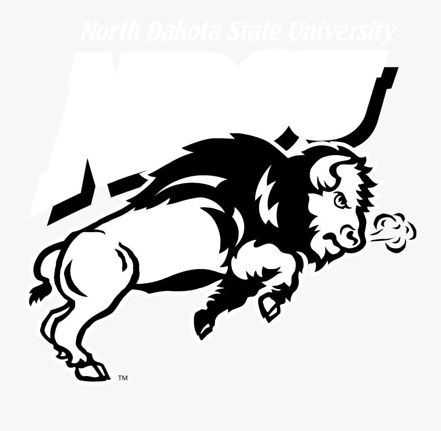 Ndsu Bison Logo Black And White - North Dakota Bison Logo, Transparent Clipart