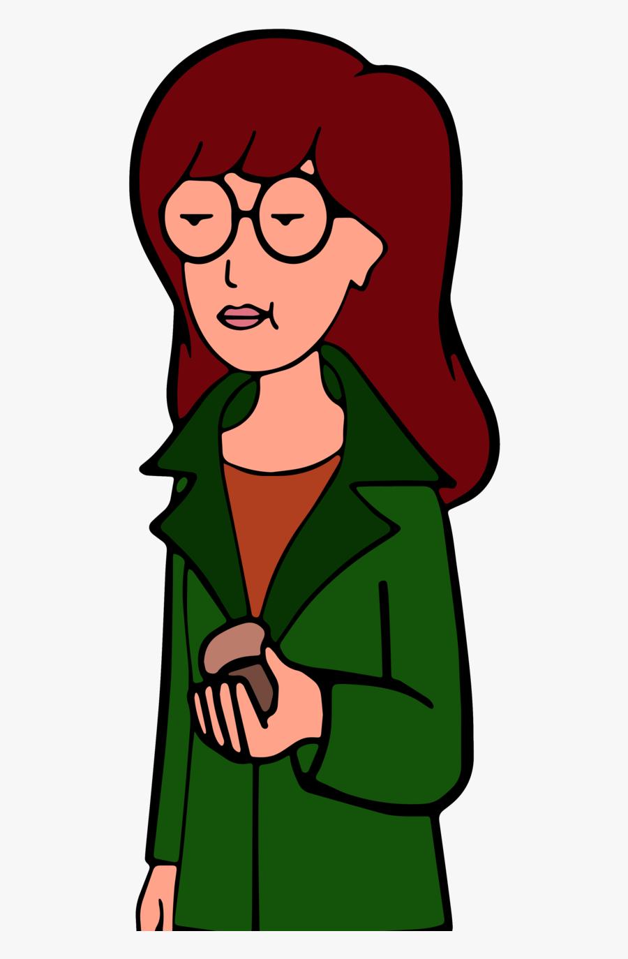 Cartoon,green,clip Care,happy,style - Daria Gif, Transparent Clipart