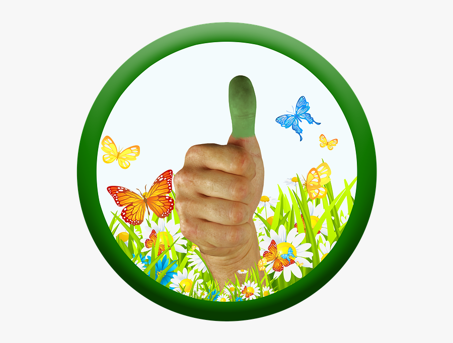 Green Thumb, Transparent Clipart
