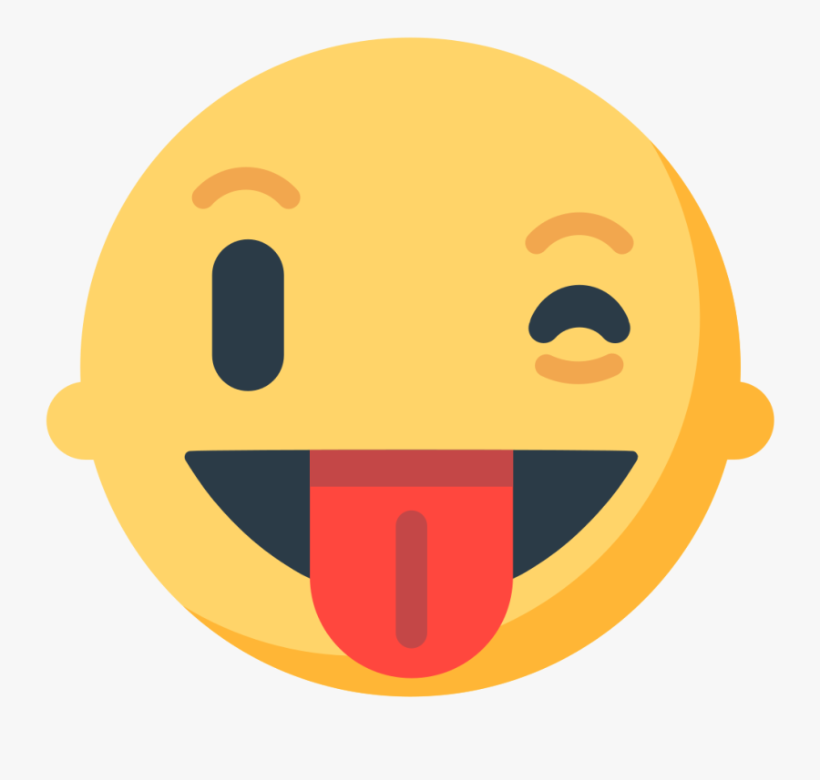 Emoji Emoticon Wink Tongue Smiley - Winking Face With Tongue Emoji, Transparent Clipart