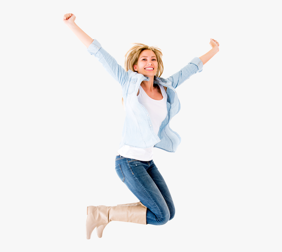 Happy Person Jumping Png - Happy Person Transparent Background, Transparent Clipart