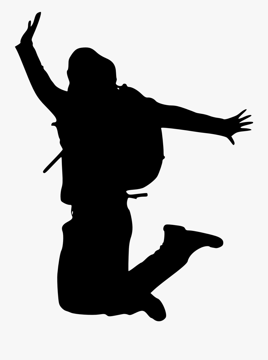 Silhouette Of A Person Happy Jumping, Transparent Clipart