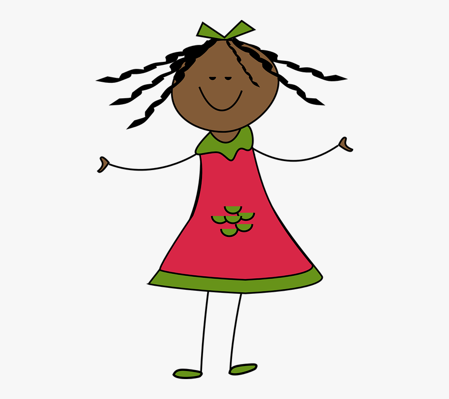 Girl, Happy, Smile, Smiling, Child, Kid, Young, Person - Doll Clipart Black And White, Transparent Clipart