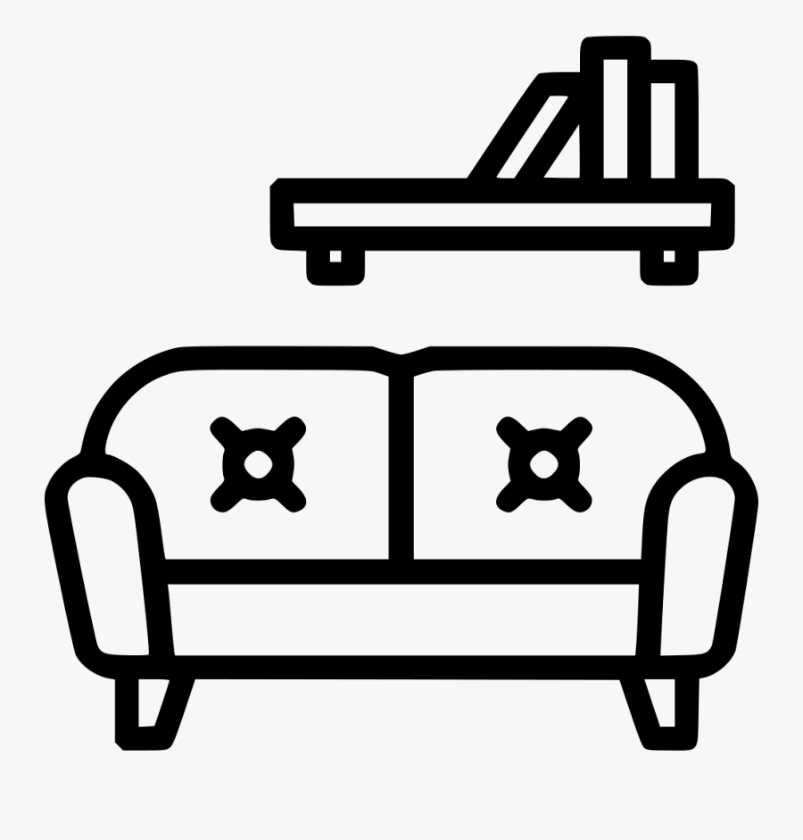 Living Room - Living Room Icon Png Free, Transparent Clipart