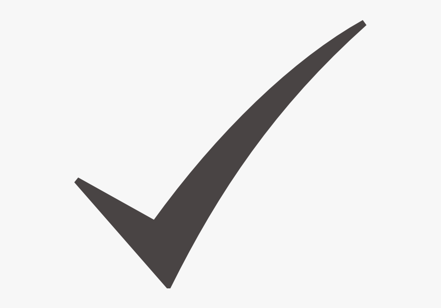 Check Mark Png Small - Right Symbol In Black, Transparent Clipart