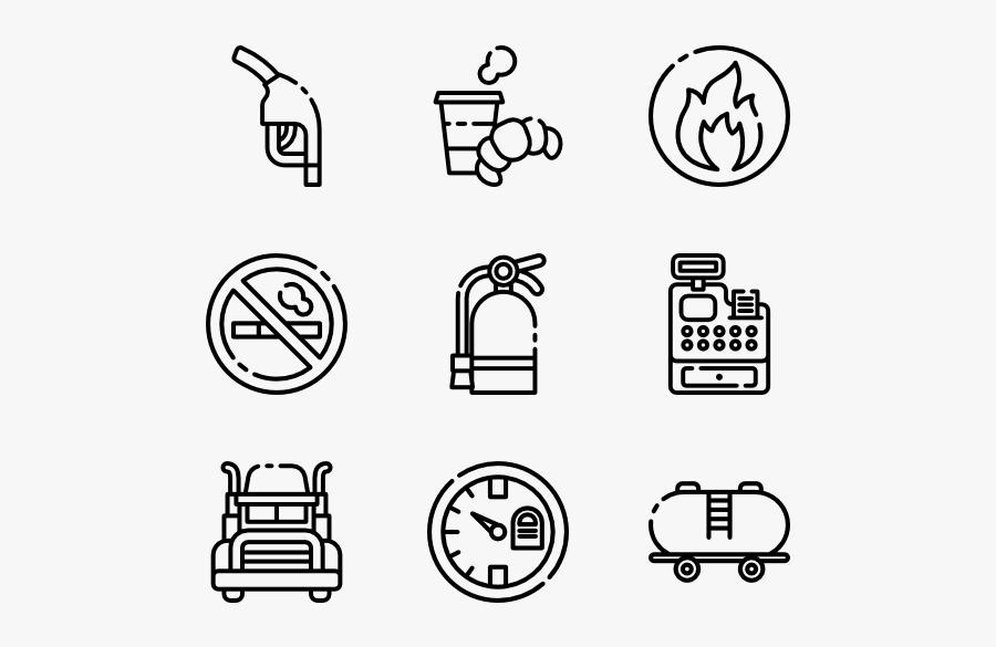 Gas Station - Car Spare Parts Icon, Transparent Clipart