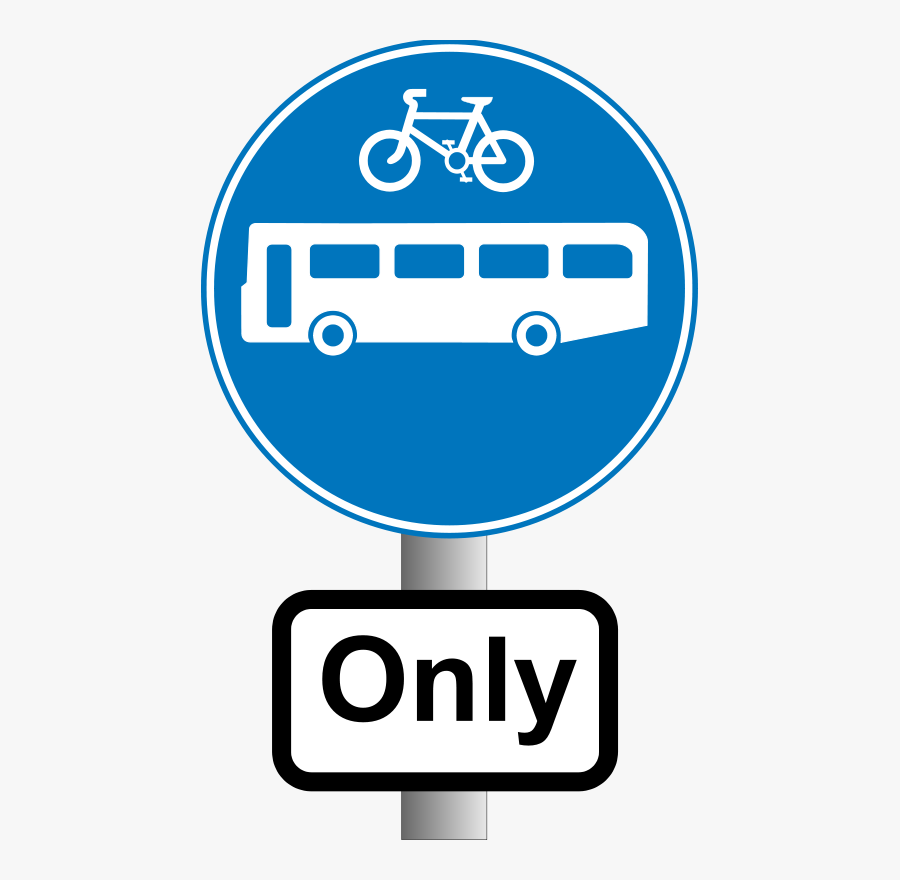 Roadsign Buses And Bikes - Choose How You Move, Transparent Clipart