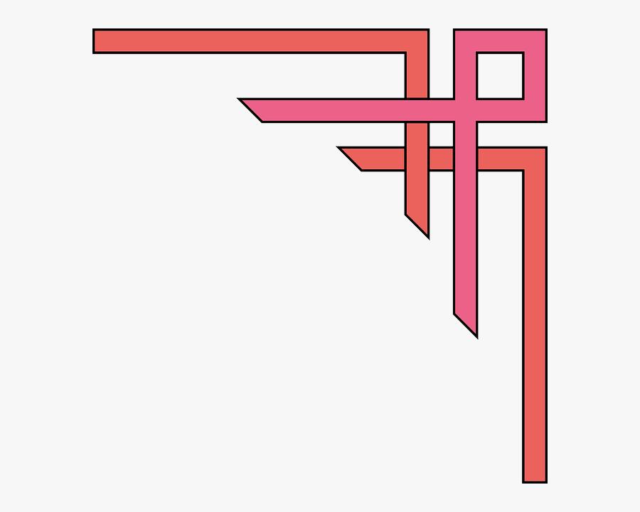 Red Graphic Corner Design Simple