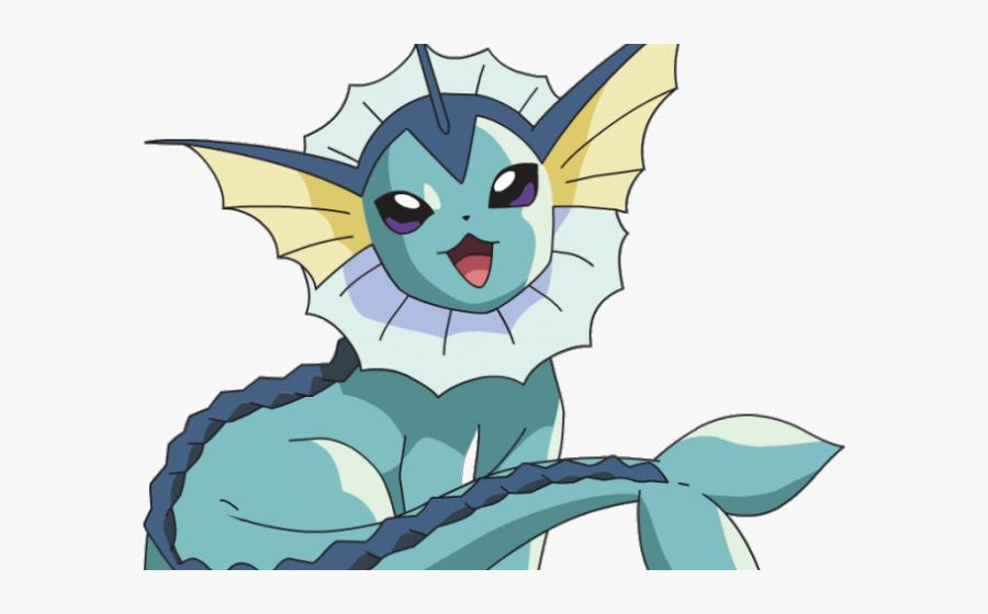 Transparent Pokemon Clip Art - Vaporeon Pokemon Drawings Eevee Evolutions, Transparent Clipart