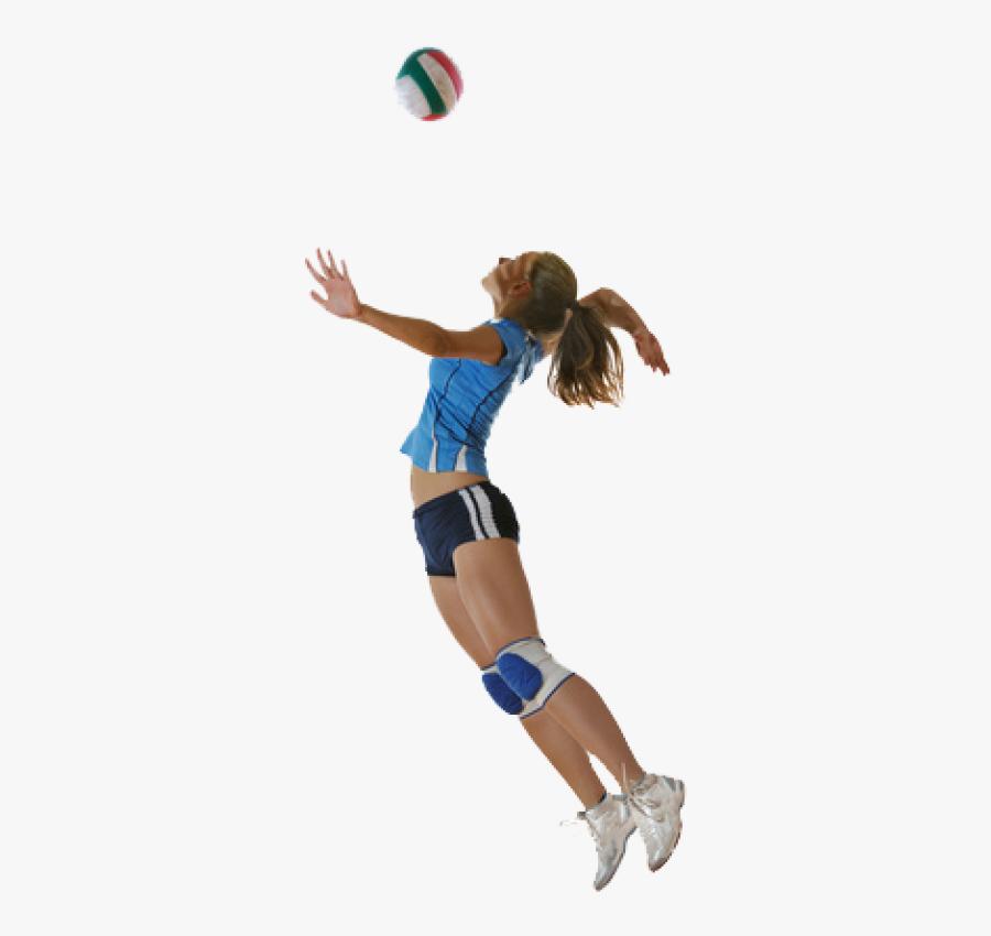 Volleyball Player Hitting A Ball, Transparent Clipart