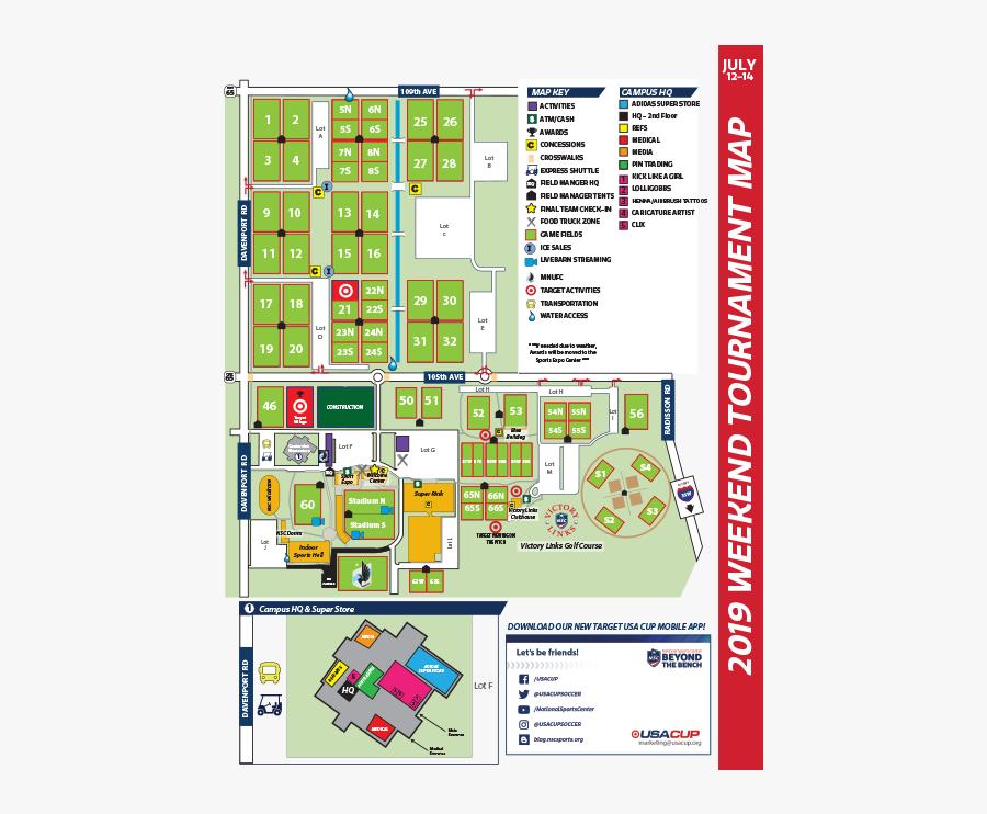 National Sports Center Map Usa Cup 2019, Transparent Clipart