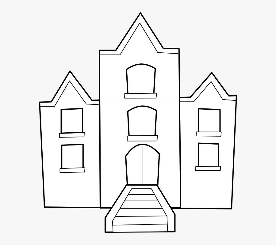 School Building Clip Art, Transparent Clipart