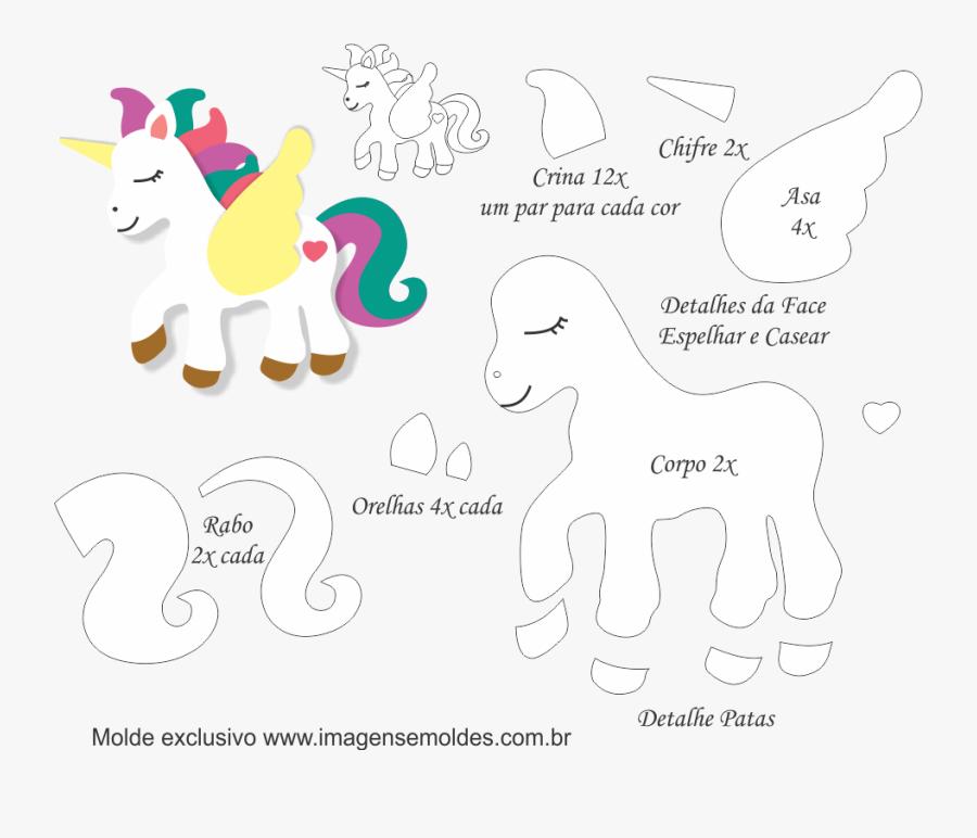 Clip Art Asas De Unicornio Molde De Unicornio Em Eva Para
