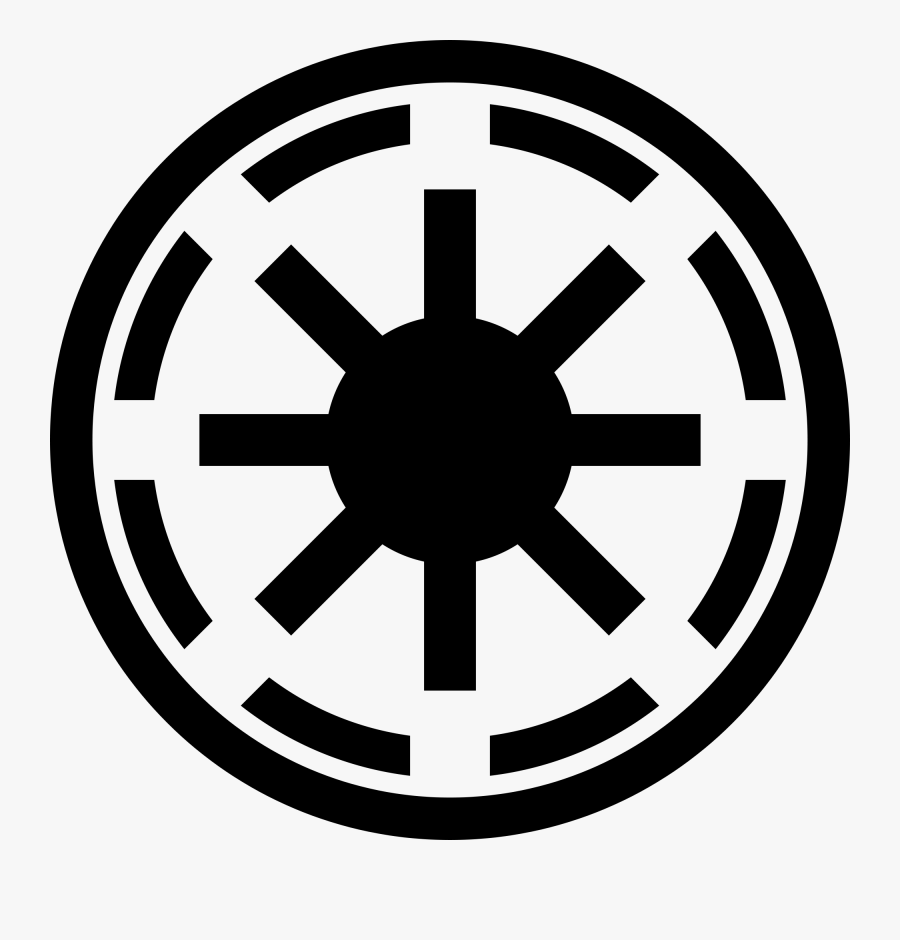 Clip Art Wikipedia Emblem Of The - Galactic Republic Symbol, Transparent Clipart