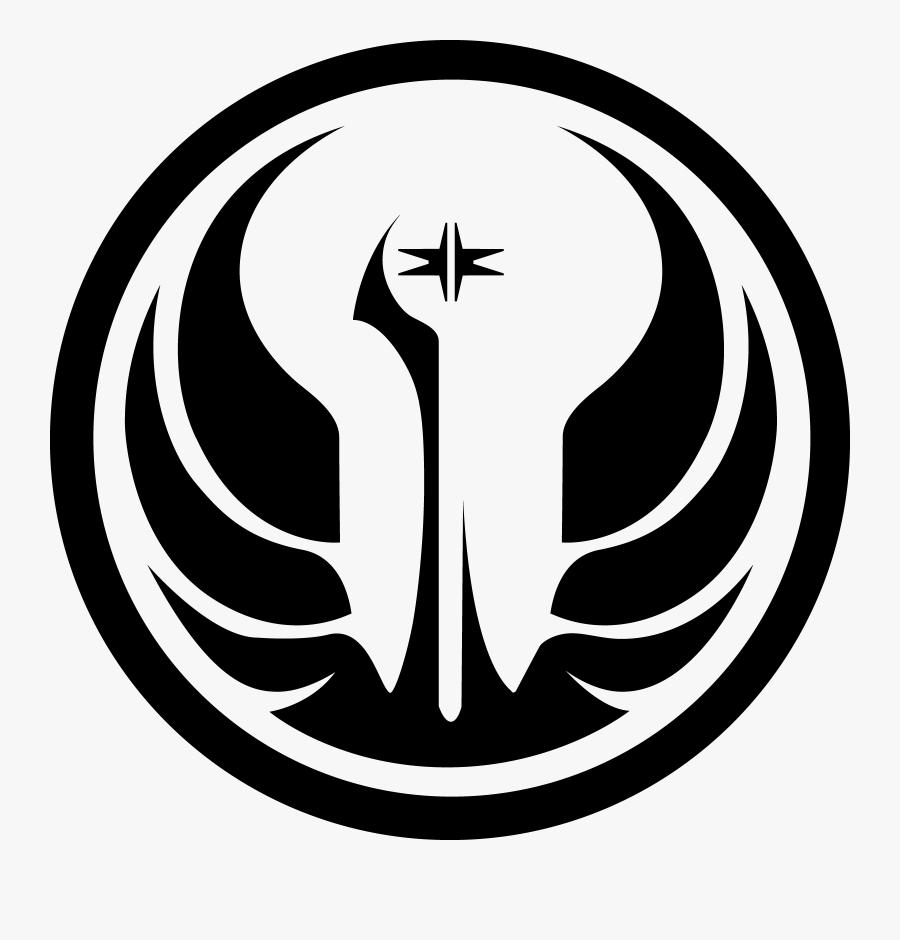 Clip Art Galactic Republic Symbol - Old Republic Star Wars Logo, Transparent Clipart