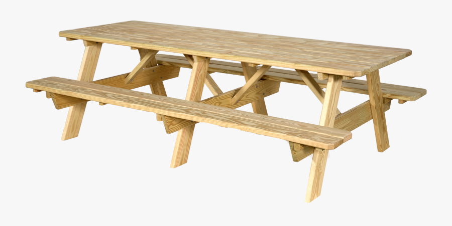 View The Full Image - Picnic Table, Transparent Clipart
