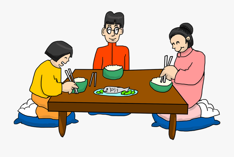 Food,picnic Table,dish,eating,family Pictures,play - Eat Dinner Clipart Transparent, Transparent Clipart