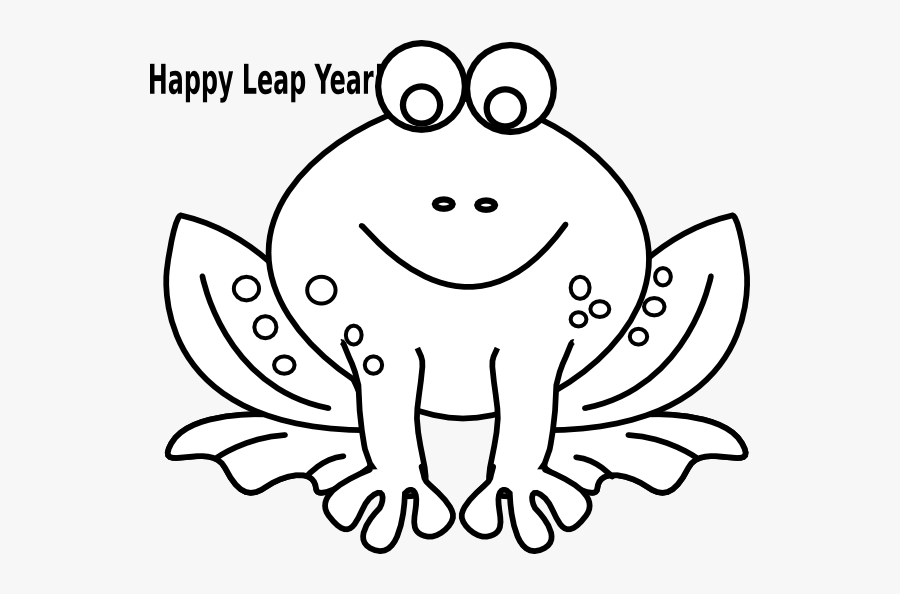 Black And White Frog Outline, Transparent Clipart