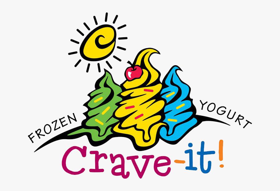 Crave It Frozen Yogurt, Transparent Clipart