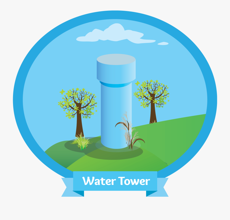 Water Tower - Illustration, Transparent Clipart